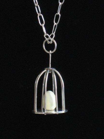 Marina Marioni, Caged Egg Necklace