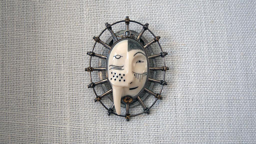 Denise Wallace, Walrus-Man Bolo Pendant, 1993