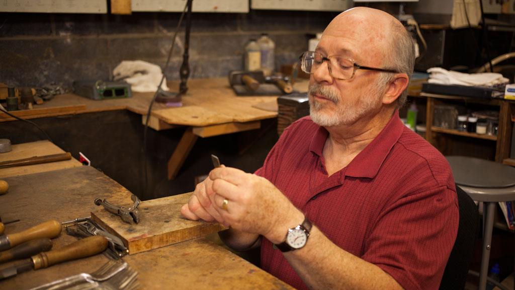 Geoffrey Blake at Old Newbury Crafters. Mark Markley photograph
