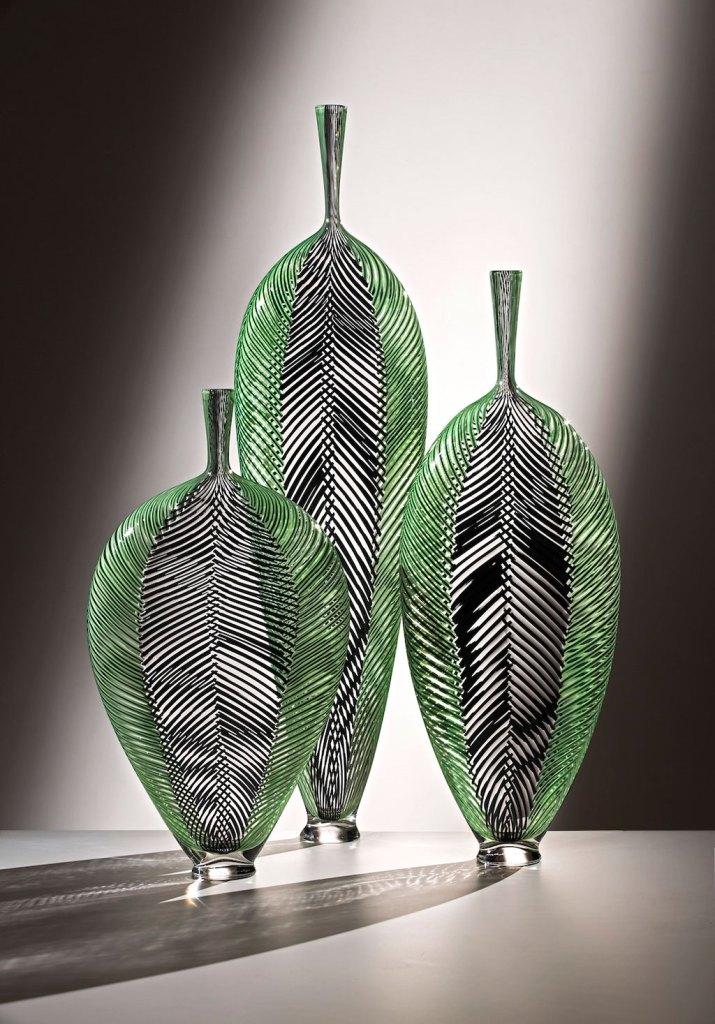 Dante Marioni, Purple in Green Leaf Installation. Russell Johnson