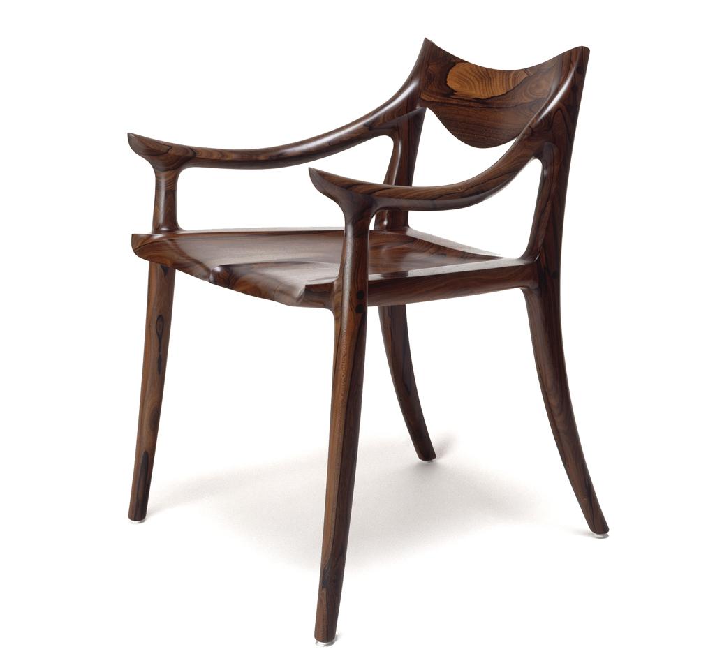 Sam Maloof, Side Chair, 1975, Gene Sasse Photograph