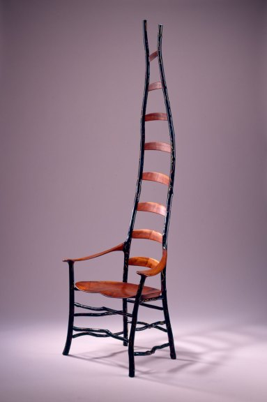 Jon Brooks, Ladderback Chair, 1996. Courtesy of San Francisco Museum of Craft and Design, The Bennett Collection, M. Lee Fatherree photograph
