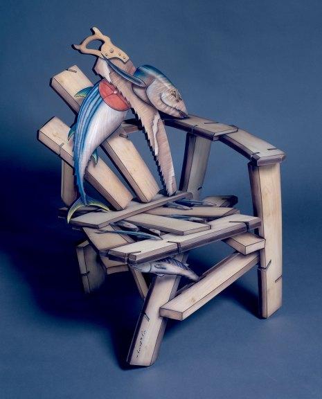 John Cederquist, Sashimi Side Chair, 1997. M. Lee Fatherree photograph