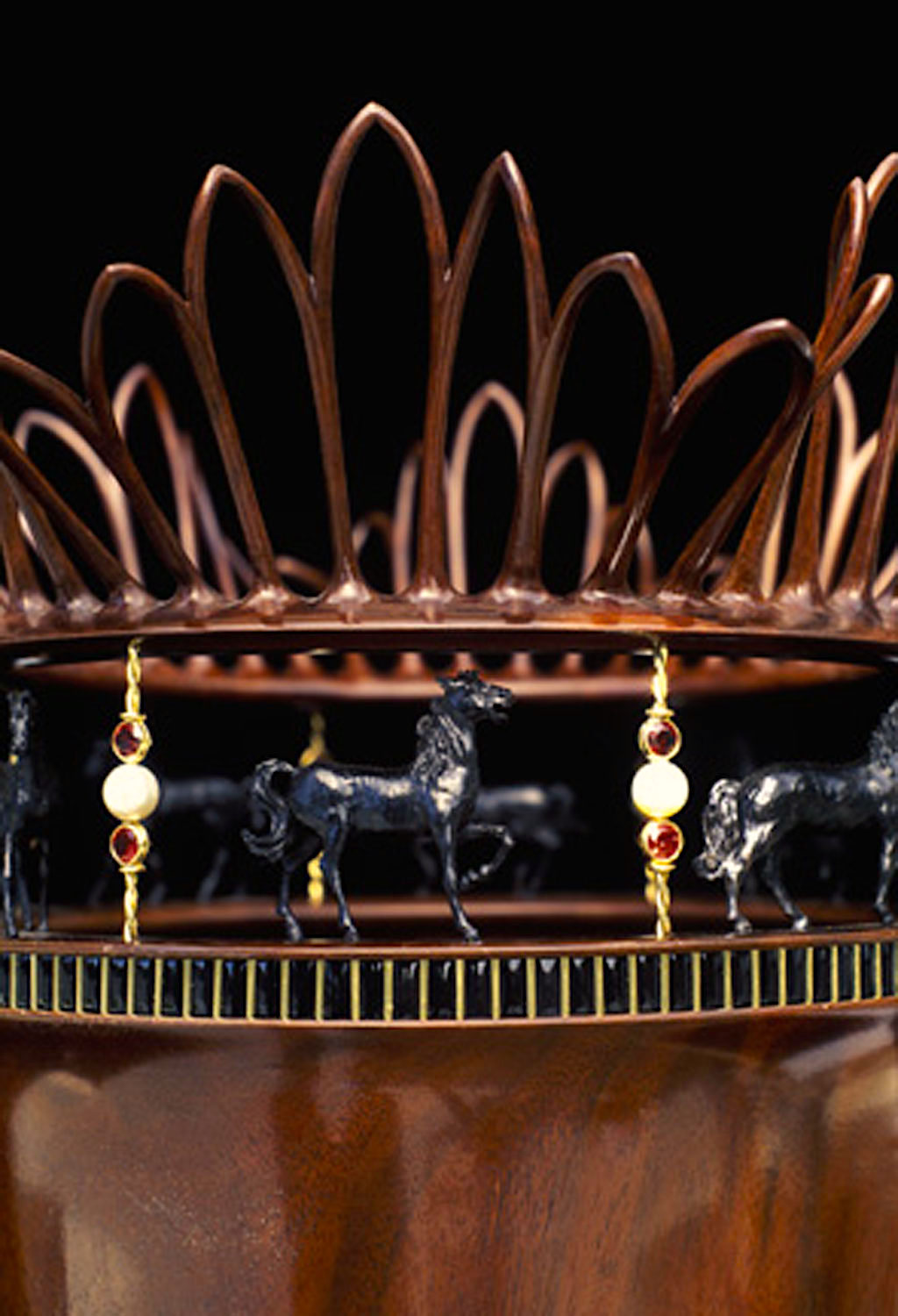 Frank E. Cummings III, Carousel - Age of Awareness close up, 1995, Craft in America