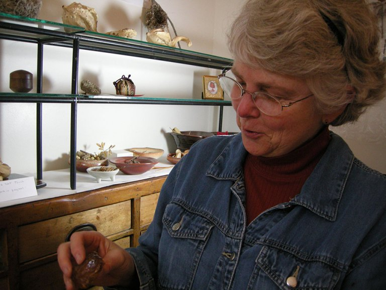 Janel in her studio, 2009