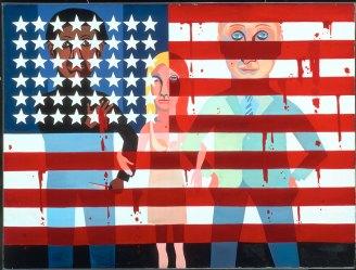 Faith Ringgold, The Flag is Bleeding, 1967, oil on canvas