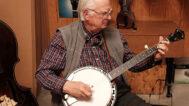 Tony Ellis playing a Stelling banjo. Mark Markley photograph
