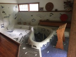 Reception house Japanese bath designed and built by George Nakashima
