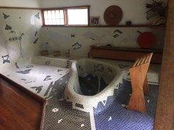 Reception house Japanese bath designed and built by George Nakashima