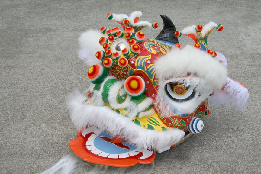 Corey Chan lion head Chinese New Year