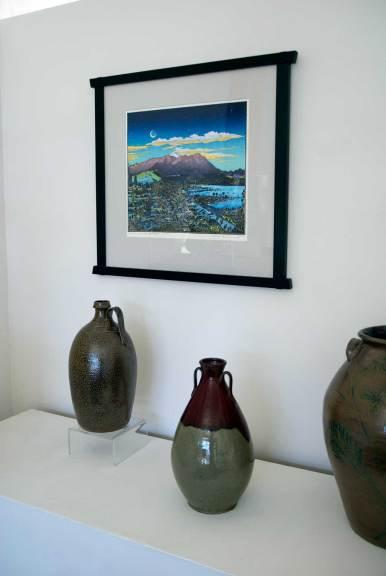 Jugtown Pottery, Saltglaze Jug (r); Vase with Two Handles, 2010 (r)