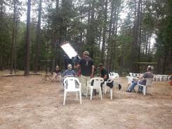 Interviewing out in the forest