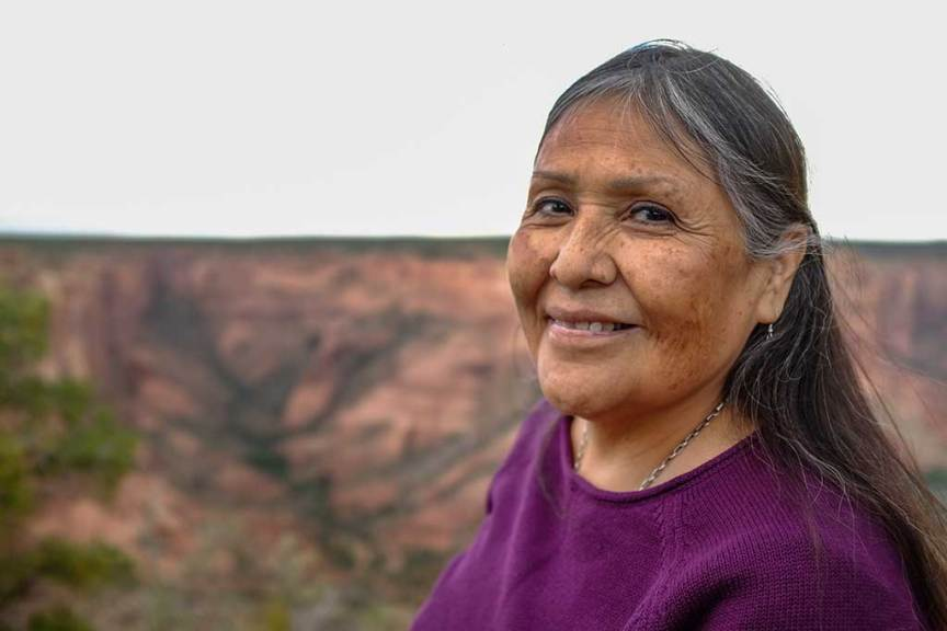 Barbara Teller Ornellas at Spider Rock in Canyon de Chelly