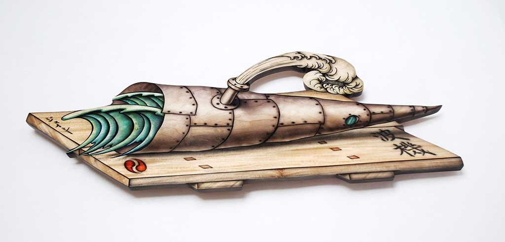 Wave Machine, (This is Not Lunch tray series), 2006-2007