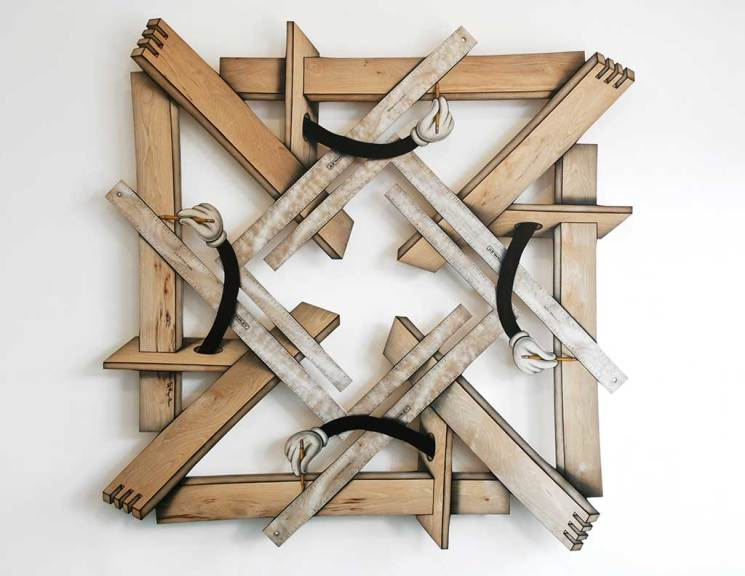 Measure Twice, Cut Once (Mickey's Mandalas series), 2010