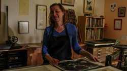 Catherine Alice Michaelis in her studio