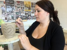 Nicole Roche perforated her vessel in the shape of a heart