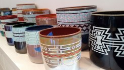 A selection of vessels waiting to be finished