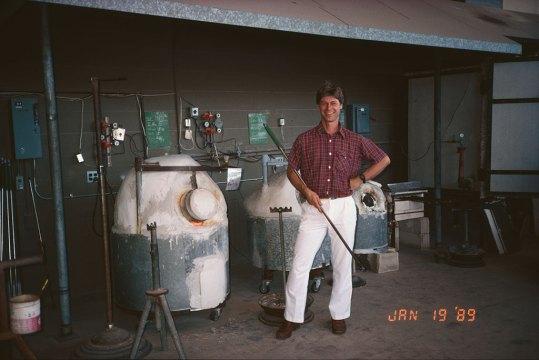 Hugh Jenkins, founder of Punahou's glass program. Courtesy Boyd Sugiki