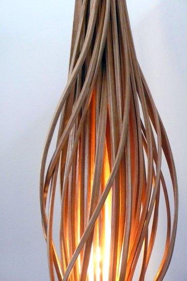 Hongtao Zhou, Energy Wood lumber floor lamp (detail), 2016