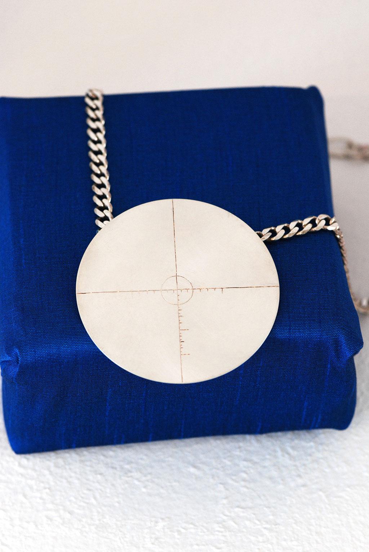 Jana Brevick, Target #10 Pendant, Moving Target Series, 2006
