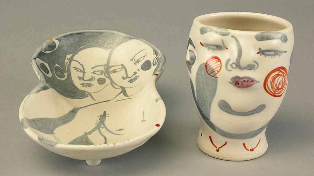 Akio Takamori, Cup and Plate. Doug Hill photograph