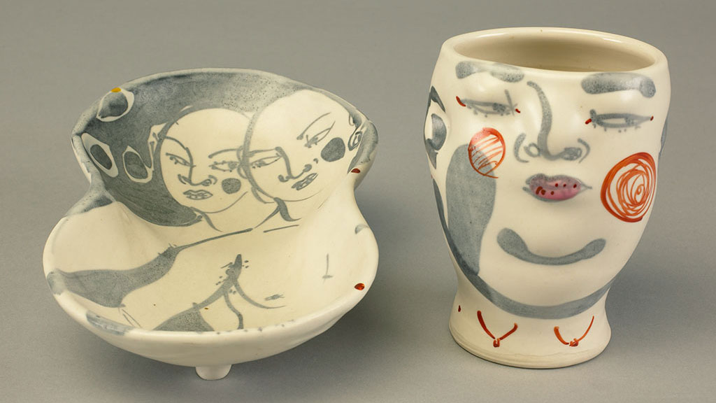 Akio Takamori, Cup and Plate. Doug Hill photograph