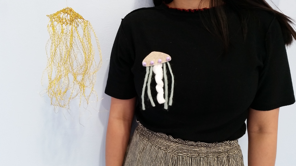 Arline Fisch: Aquatic Bloom Jellyfish pins