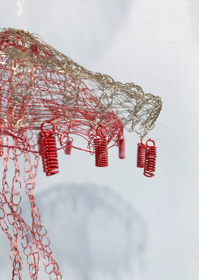 Arline Fisch, Red Jelly (Detail), 2008-2018, Aquatic Bloom, Craft in America