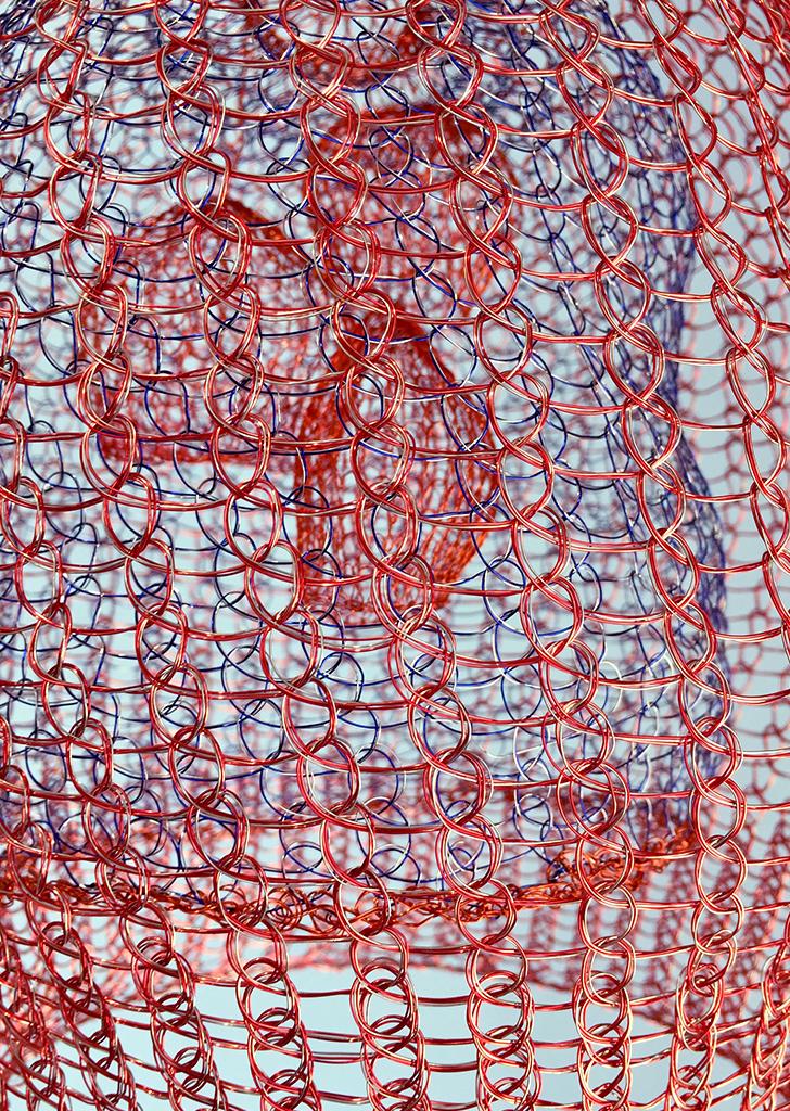 Arline Fisch, Lantern (Detail), 2008-2018, Aquatic Bloom, Craft in America