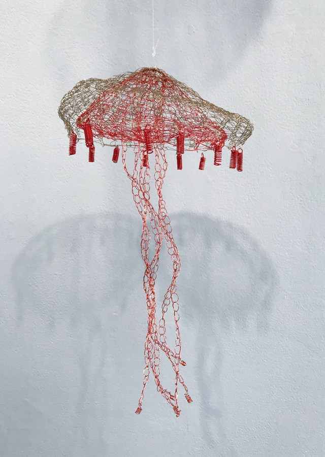 Arline Fisch, Red Jelly, 2008-2018, Aquatic Bloom, Craft in America