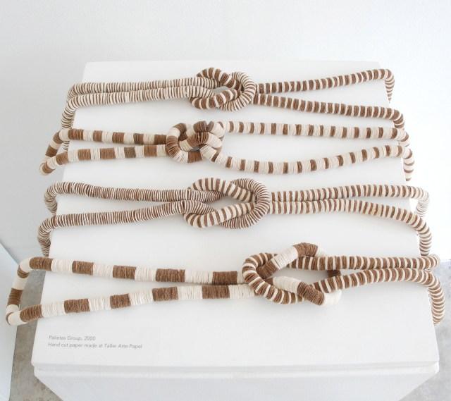 Kiff Slemmons, Collective Presence, Palitas Group, 2002 Handmade paper, indigenous fibers, Craft in America