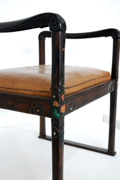 Charles Greene, Footstool, detail, ca. 1930, Rooted Claifornia