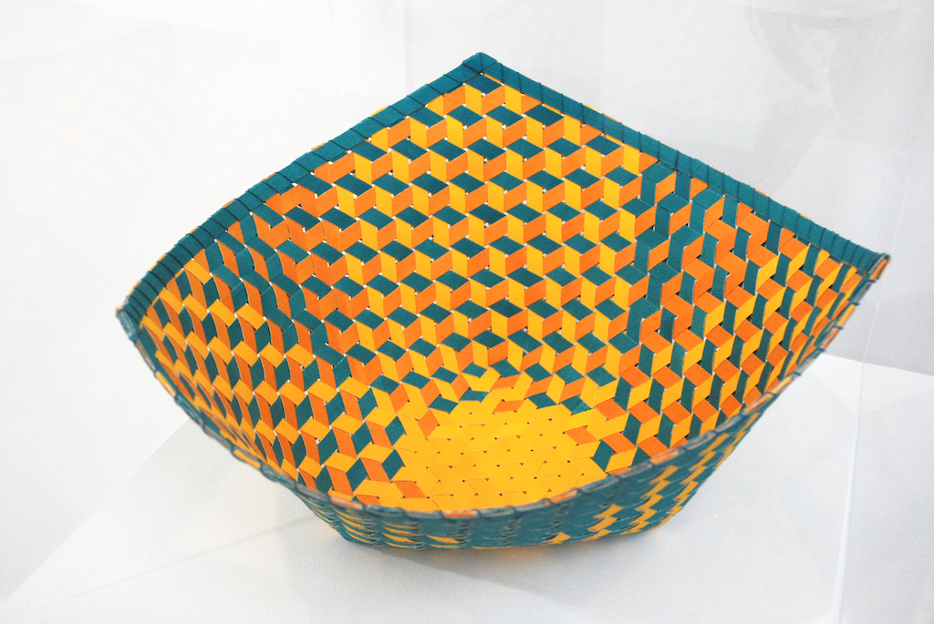 Dorothy McGuinness, Triality 4, 2018. Excellence in Fibers IV, woven basket