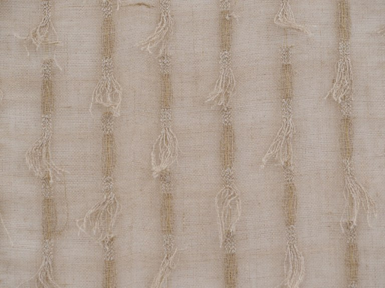 Kay Sekimachi, Eyelash Fabric, 1953, Woven linen, looped linen. Collection of the artist,California Visionaries: Seminal Studio Craft, Featuring Works from the Forrest L. Merrill Collection, Craft in America
