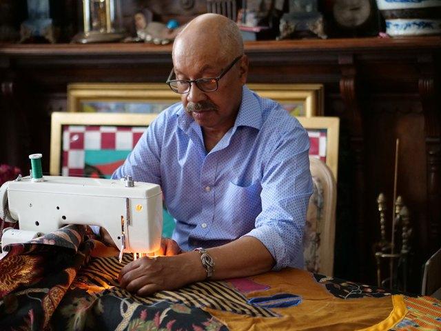 Michael Cummings, sewing machine, QUILTS, Craft in America