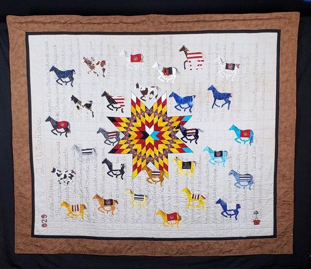 Susan Hudson, 29 Warriors, quilts