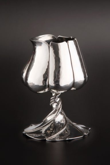Randy Stromsoe, Tulip Cup, 1980, Pewter, Rooted: Craft Origins from the California Episode