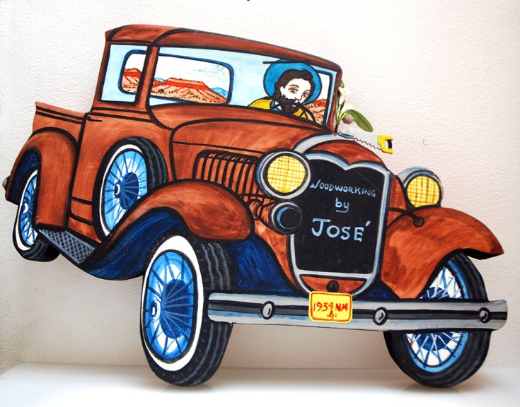 """Charles M. Carrillo, """"Woodworking by Jose"""" Retablo, 2010"""