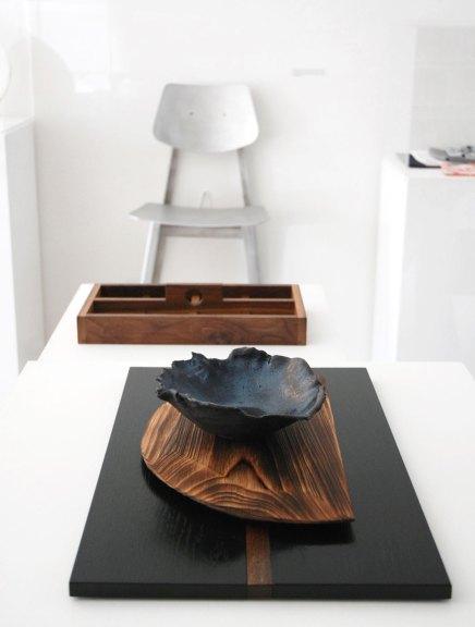 Alex Miller, Dinner Bowl, n/naka. David Leitch Tray. Klein Agency, Dining Chair BT, Bon Temps, Consume: Handcrafting L.A. Restaurant Design, Craft in America