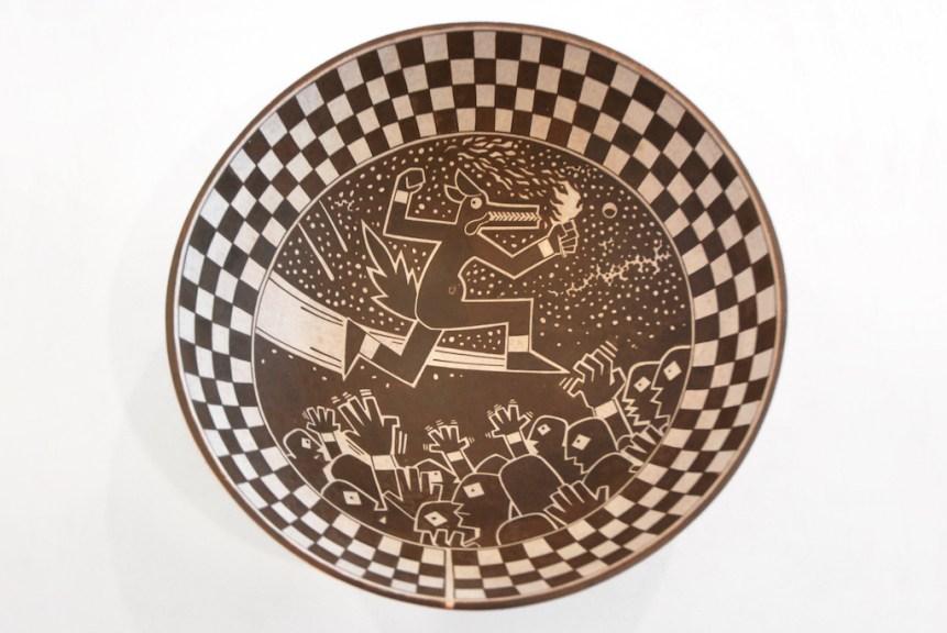 Diego Romero, Untitled, c. 2019, glazed earthenware, IDENTITY, Craft in America