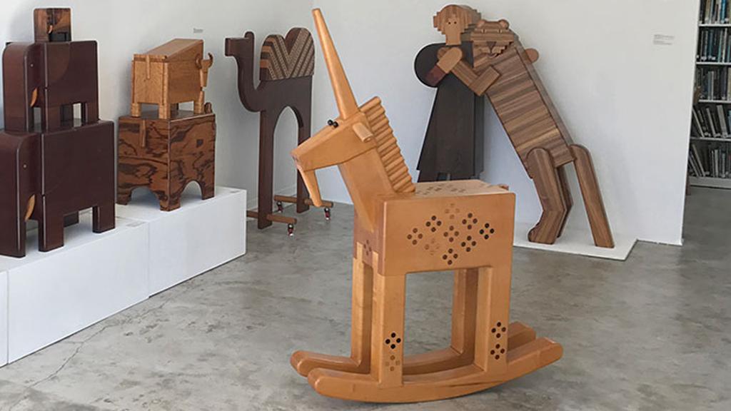Made to Play, Pamela Weir-Quiton, Unicorn Rocker, 1971, Craft in America