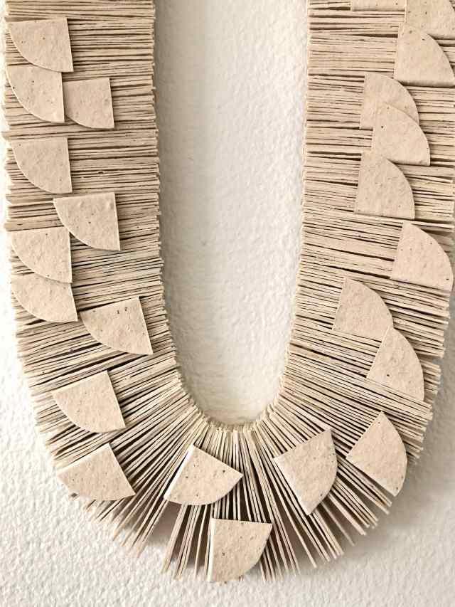 Kiff Slemmons, Ojo de Agua (Escarmas) (detail) 2009, Cotton and Chichicastle Paper from Arte Papel Vista Hermosa, Craft in America