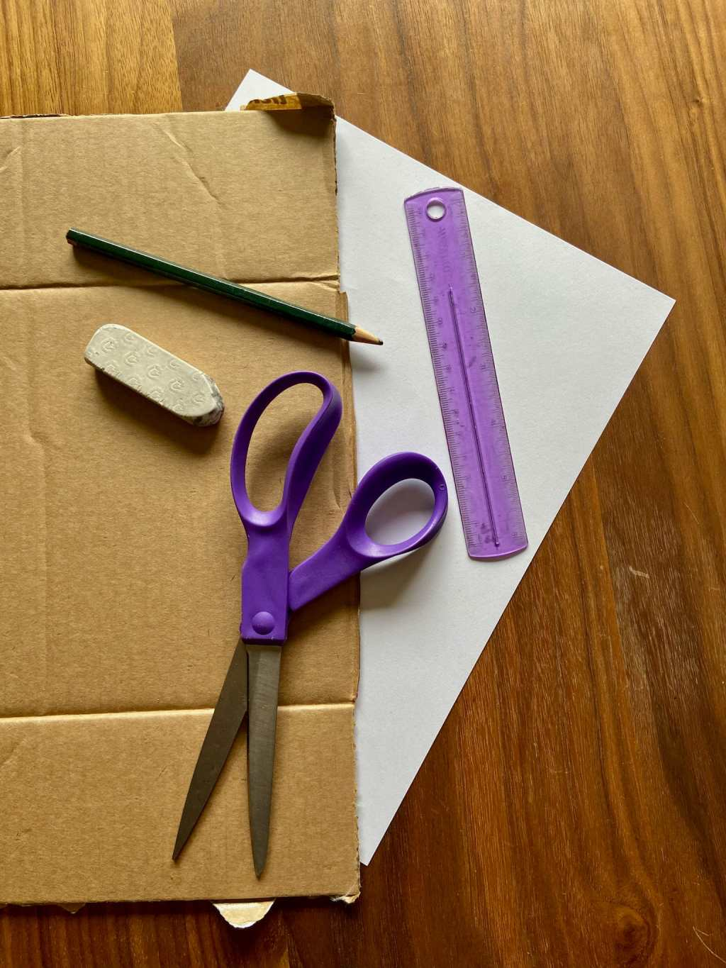 Craft at Home, Cardboard Elephant Sculpture, Gather your materials!