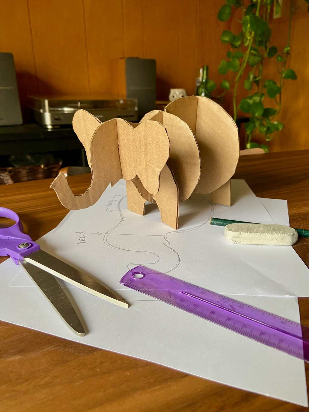 Craft at Home: Cardboard Elephant Sculpture