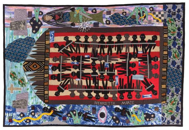 Michael A. Cummings, Slave Ship Henriette Marie, 2018. Quilts episode, Craft in America