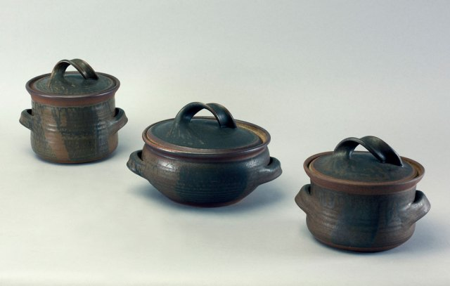 Karen Karnes Lidded Dishes. Doug Hill Photo, Craft in America