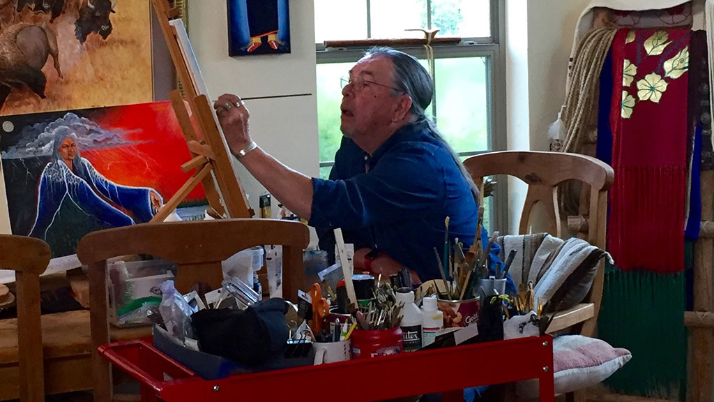 Artist Harvey Pratt. Craft in America DEMOCRACY