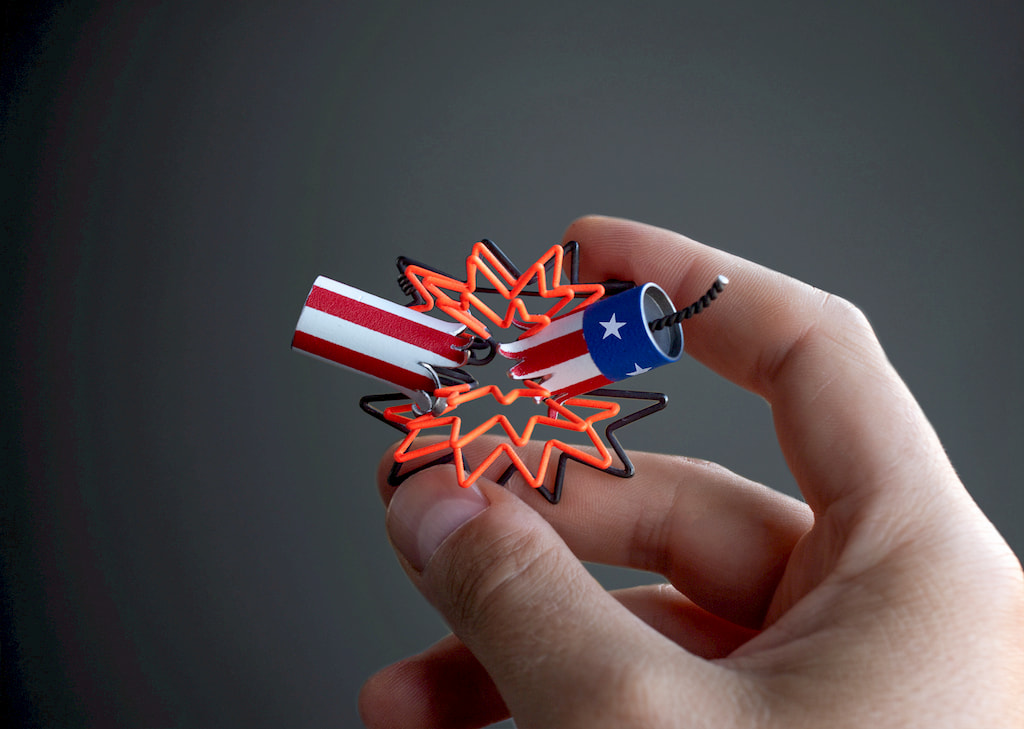 Stefan Gougherty, Boom Brooch, 2020 Craft in America Democracy