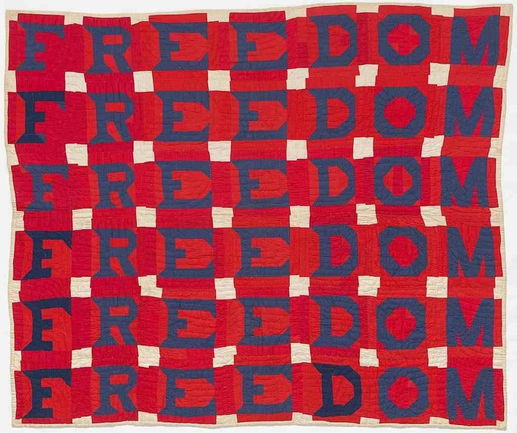 Jessie Bell Williams Telfair, Freedom Quilt, c. 1975. Collection of the National Musuem of African American History & Culture, Democracy, Craft in America